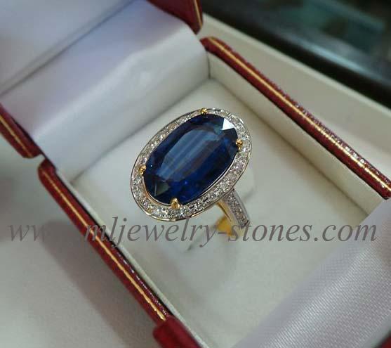 แหวนพลอยไคยาไนท์(kyanite)