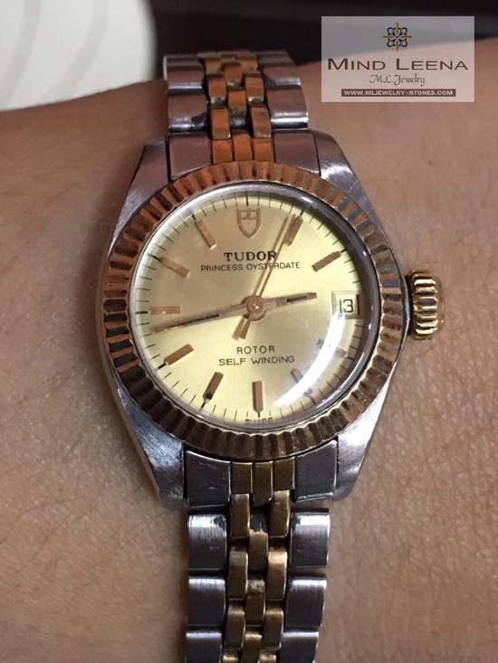 นาฬิกา Tudor ระบบโอโต้ ของผู้หญิงขนาดเล็ก 23 มิล รวมเม็ดมะยม 26 มิล