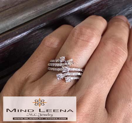 แหวนเพชรแท้เบลเยี่ยมน้ำหนักรวม 1.03 cts.(สินค้าราคาพิเศษ)