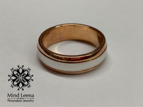 แหวนพิงค์โกลด์ 18k