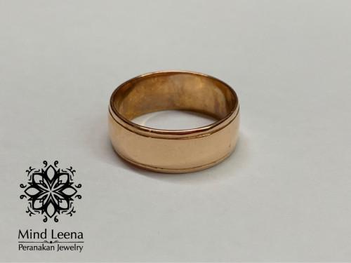 แหวนนากพิงค์โกลด์ทรงปอกมีด