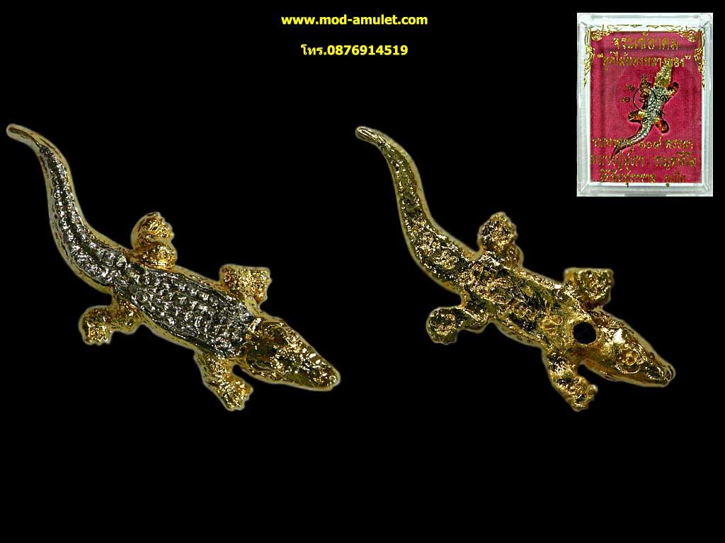 จระเข้อาคมอุดไม้ทองหลางทอง รุ่นแรก หลวงปู่สุภา กันตสีโล (2)