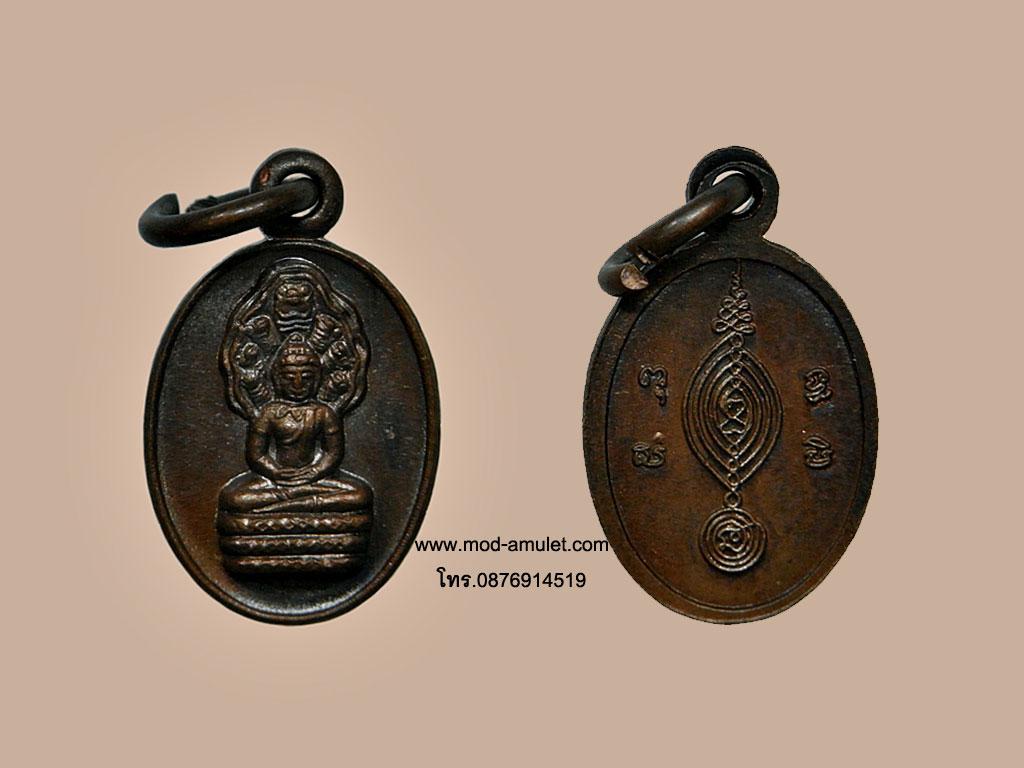 เหรียญปั๊มรูปไข่พระนาคปรก ปี29 หลวงปู่ดู่ วัดสะแก (คัดสวย) เหรียญที่2
