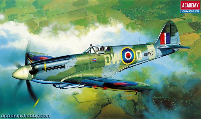 Spitfire 1/72 Academy พร้อมรูปลอกตัวไทยของ Siam Scale