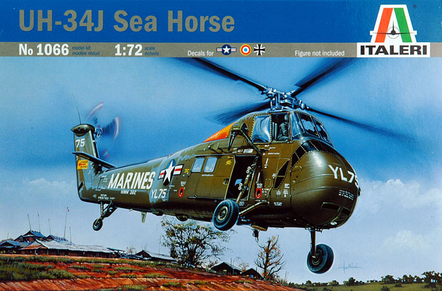 UH-34J Sea Horse1/72 Italeri พร้อมรูปลอก Siam Scale และหัวแปลงเรซิ่น