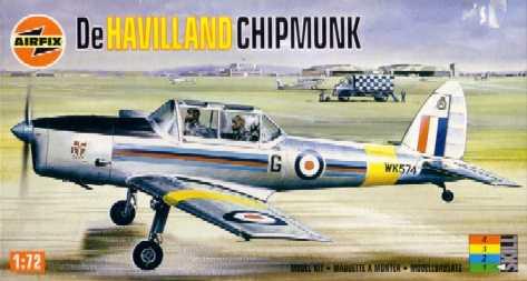 DeHavilland Chipmunk 1/72 Airfix พร้อมสติกเกอร์ตัวไทย