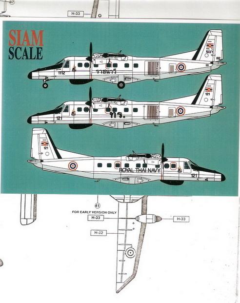 Donier-228 Royal Thai Navy Decal 1/72