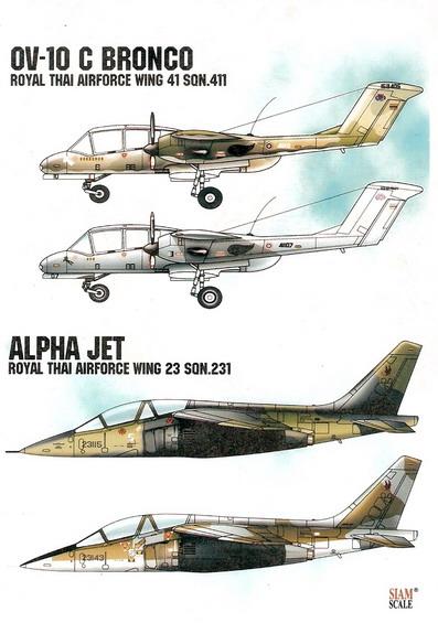OV-10 Bronco/Alpha Jet Royal Thai Air Force 1/72 Decal