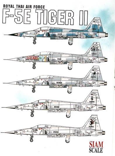 F-5E / F Tiger II Royal Thai Air Force 1/72 Decal