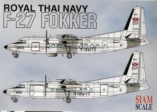 F-27 Fokker Royal Thai Navy 1/72 Decal