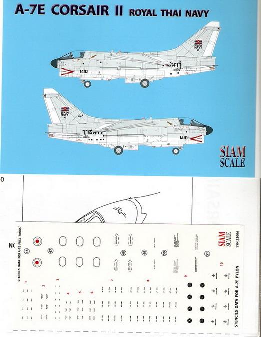 A-7E Corsair II Royal Thai Navy 1/32 Decal