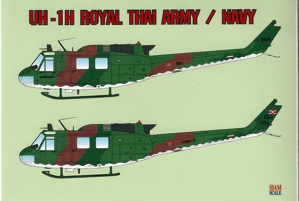UH-1H Royal Thai Army/Navy 1/32 Decal