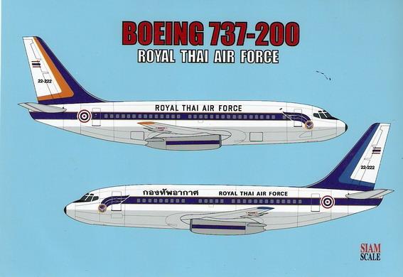 Boeing 737-200 RTAF 1/144 Decal