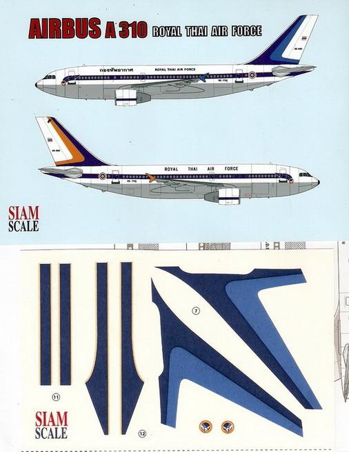 Airbus A-310 RTAF 1/144 Decal