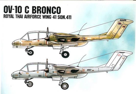 OV-10 Bronco Royal Thai Air Force 1/48 Decal