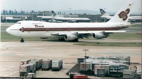 Boeing 747-200 Thai 1/144 Decal for Revell