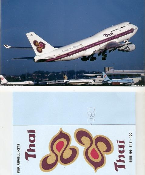 Boeing 747-400 Thai 1/144 Decal for Revell