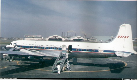Douglas DC-6 Thai Airways International 1/72 Decal for Heller