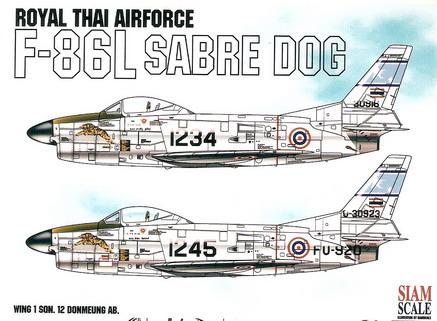 F-86L Sabre Dog RTAF 1/48 Decal