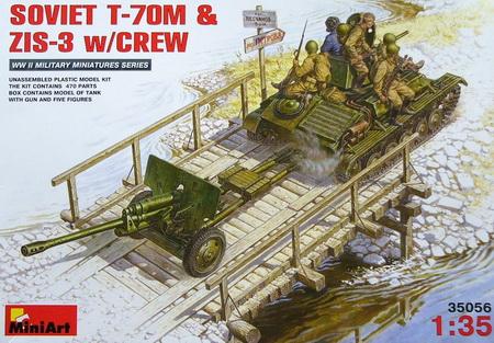 Soviet T-70M ZIS-3 w/crew 1/35 Miniart