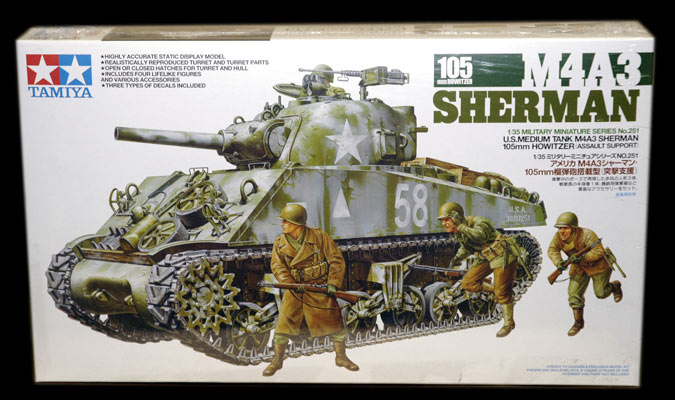 M4A3 Shearman 105mm Howitzer 1/35 Tamiya