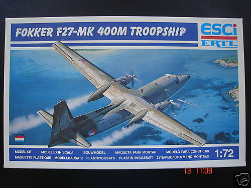 Fokker F27 400M 1/72 Esci + Siam Scale decal