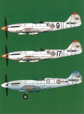 Spitfire Mk.14E/19 Royal Thai Air Force 1/48 Decal