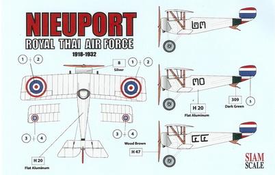 Nieuport 1/32 Royal Thai Air Force 1/32 Decal