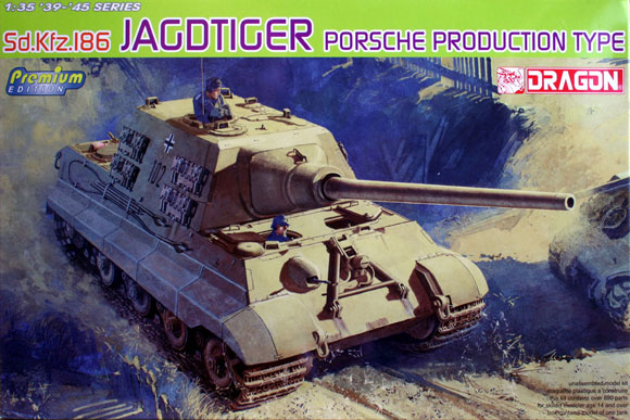 Sd.Kfz.186 Jagdtiger Porsche Production Type(Premium Edition) 1/35 Dragon