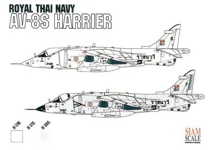 AV-8S/TAV-8A Harrier Royal Thai Navy 1/72 Decal