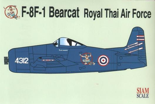 F-8F-1 Bearcat RTAF (Blue) Hanuman 1/72 Decal
