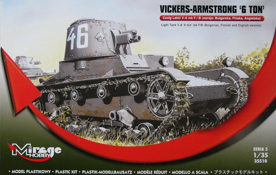 VICKERS-ARMSTRONG 6-ton Mk F/B Light 1/35 Mirage