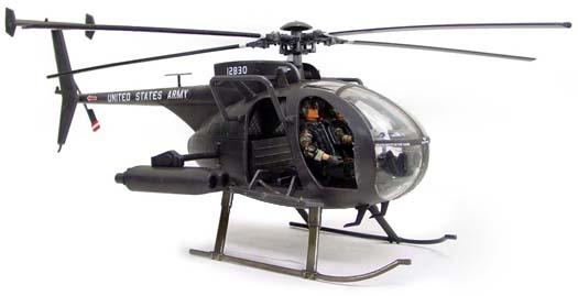 MH-6 Little Bird Night Stalker Helicopter BBI Elite Force 1/18