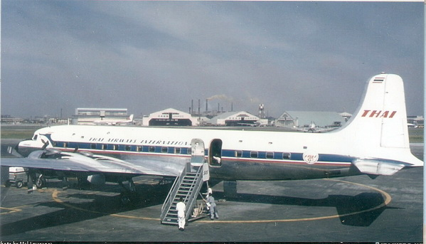 Douglas DC-6B Thai Airways International 1/144 Decal.