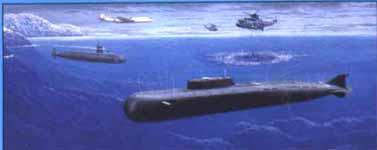H.M.S. Trafalgar vs Soviet Oscar SSGN 1/700 Dragon