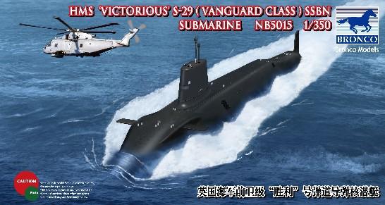HMS Victorious S-29 SSBN 1/350 Bronco Model