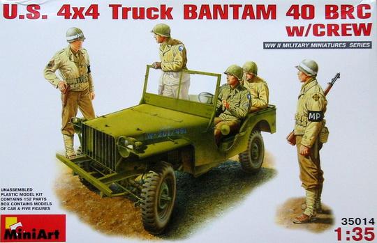 US 4x4 Truck Bantam 40 BRC w/crew 1/35 Miniart