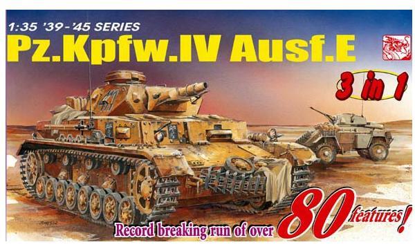 Pz.Kpfw.IV Ausf.E (3 in 1) 1/35 Dragon