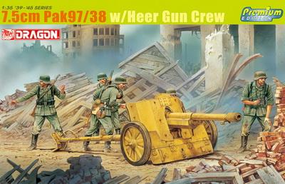 7.5cm PaK 97/38 w/Heer Gun Crew (Premium Edition) 1/35 Dragon
