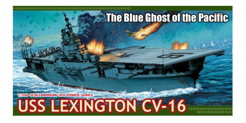 USS Lexington CV-16 1/700 Dragon