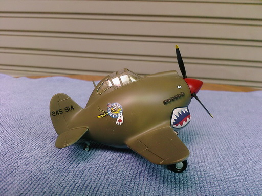 P-40C Tomahawk Flying Tiger Egg Plane finished by Modelivery