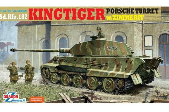 King Tiger Porsche Turret w/Zimmerit 1/35 Dragon