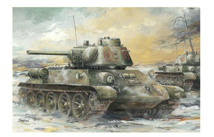 T-34/76 Mod.1943 w/Commander Cupola no.183 Factory 1/35 Dragon