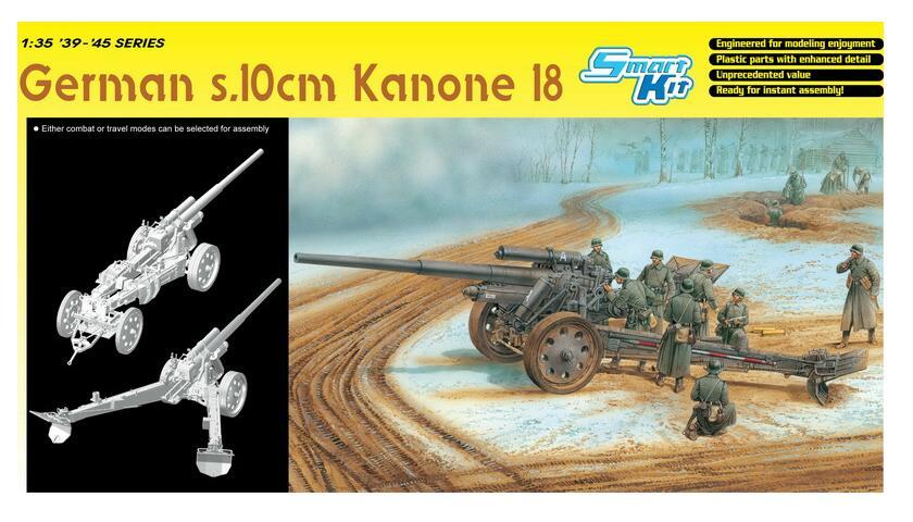 German s.10cm Kanone 18 (Smart Kit) 1/35 Dragon