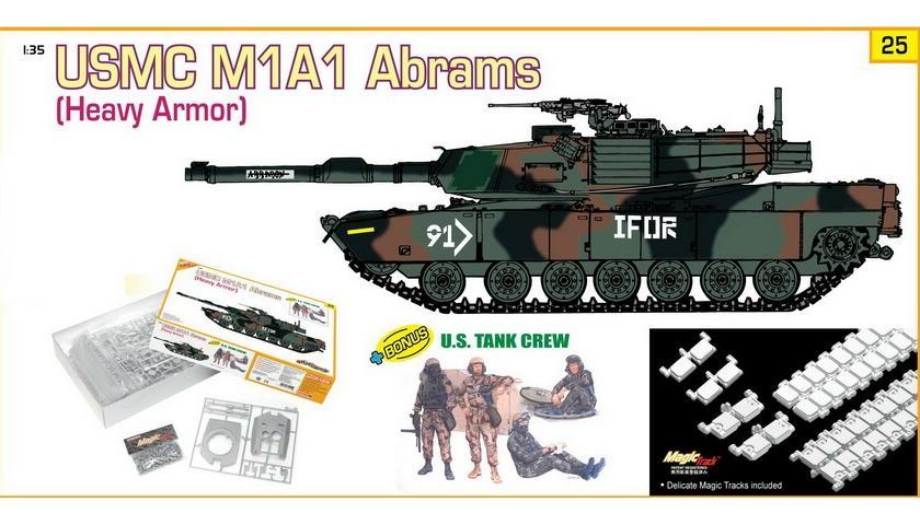 USMC M1A1 (Heavy Armor) + U.S. Tank Crew 1/35 Dragon