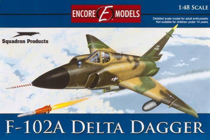 F-102A Delta Dagger 1/48 Encore Models + Walkaround + In Action book