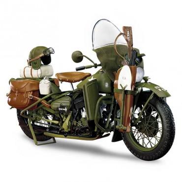 1942 Harley-Davidson® WLA Military Motorcycle 1/10 Franklin Mint