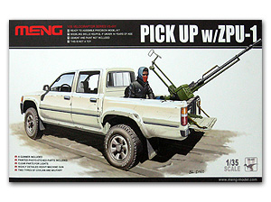 Pick Up truck w/ZPU-1 1/35 Meng Model