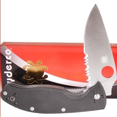 มีดพับต่อสู้ Spyderco Tenacious G-10 Combo Edge Folding Pocket Knife