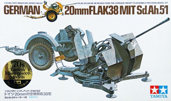 German 20mm FLAK 38 MIT Sd.Ah.51 1/35 Tamiya